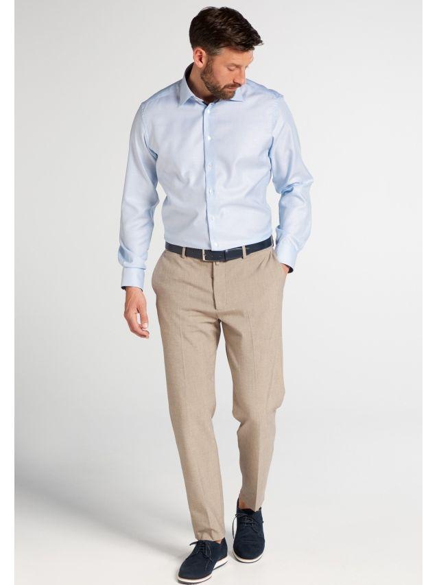 Eterna Blue Modern Fit Micro Print Shirt