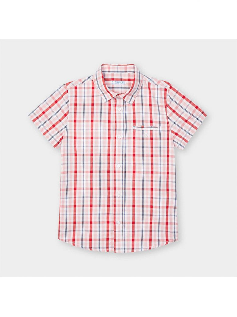 Mayoral Kids Cyber Red Checked Shirt