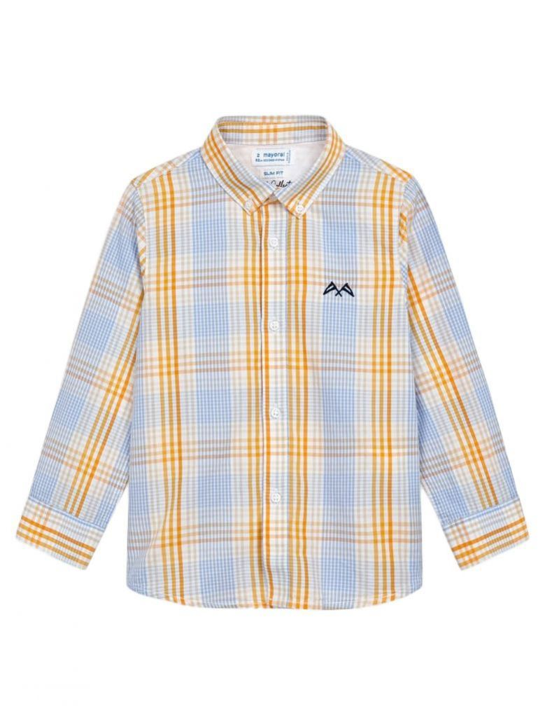 Mayoral Sunflower Long Sleeved Check Shirt