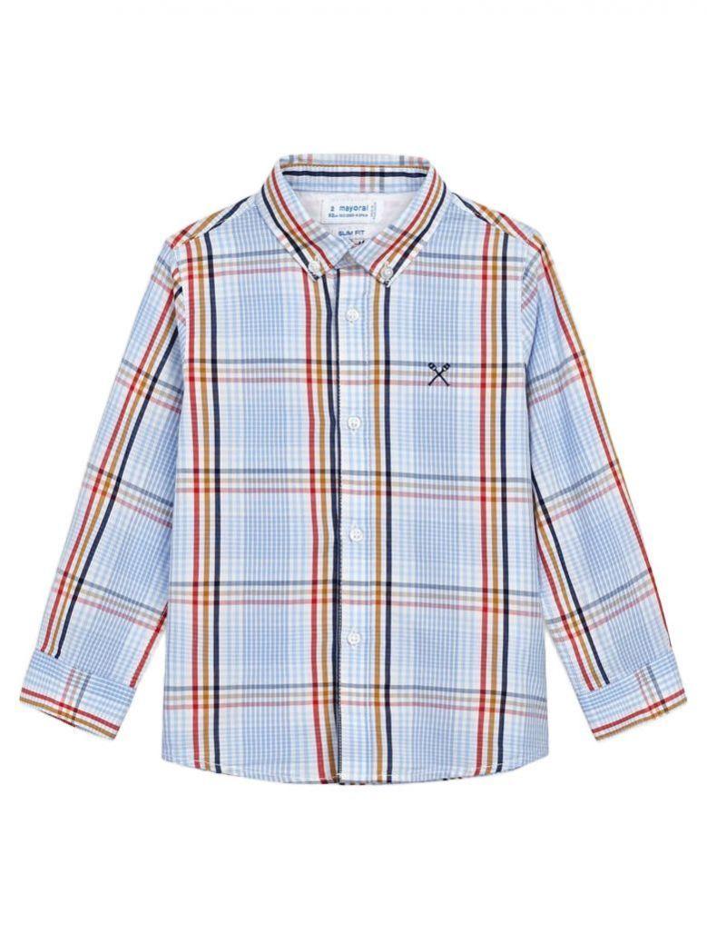 Mayoral Hibiscus Long Sleeved Check Shirt