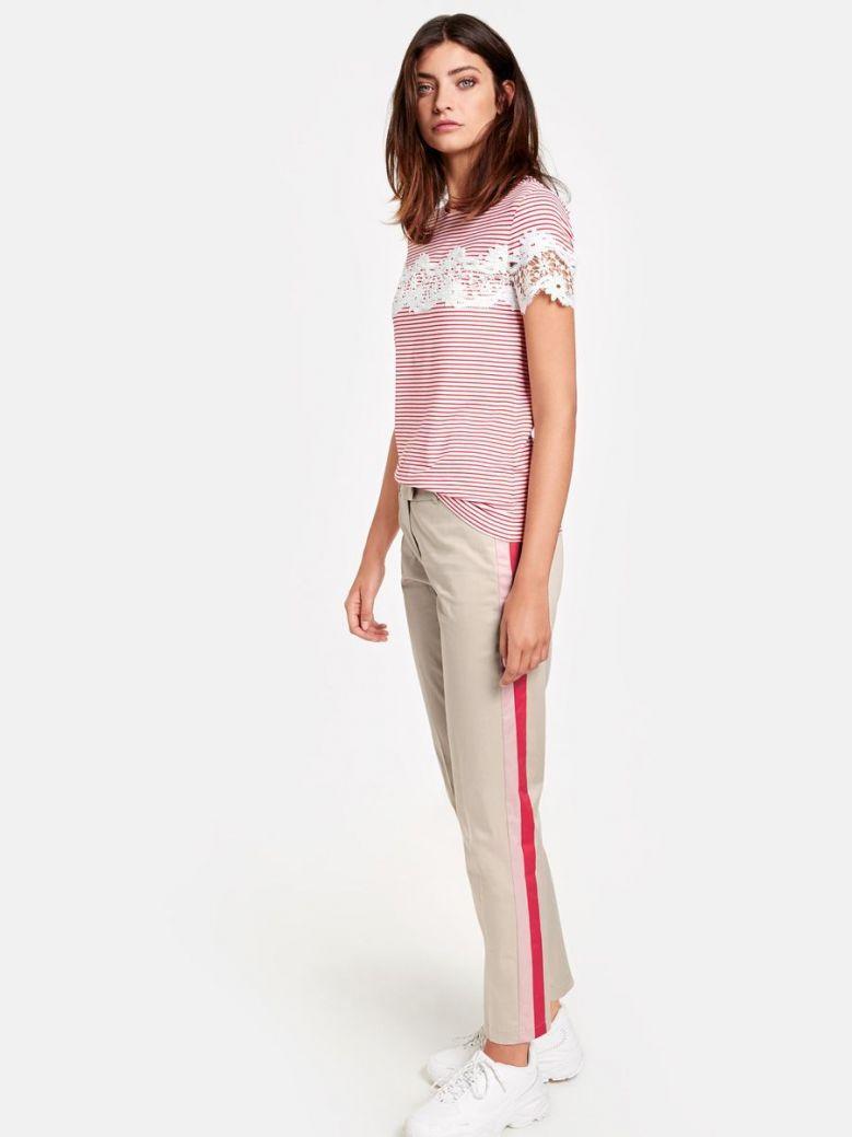 Taifun Light Beige Slim Leg Trousers