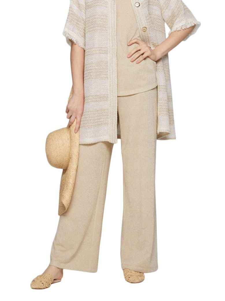 Camelot Gold Shimmer Wide Leg Trousers
