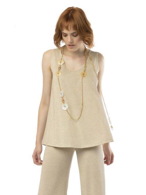 Camelot Gold Shimmer Sleeveless Top