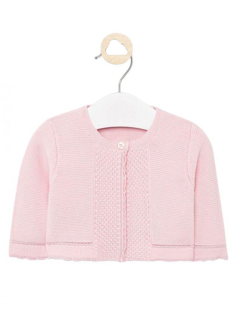 Mayoral Baby Pink Knit Cardigan