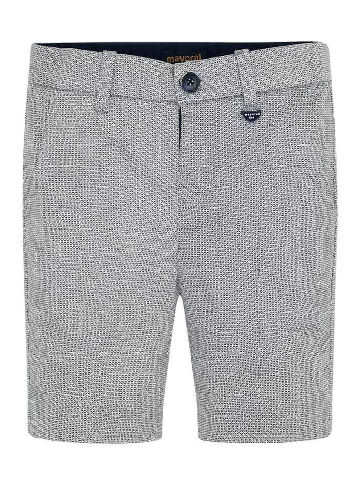 Mayoral Stone Micro Pattern Formal Shorts