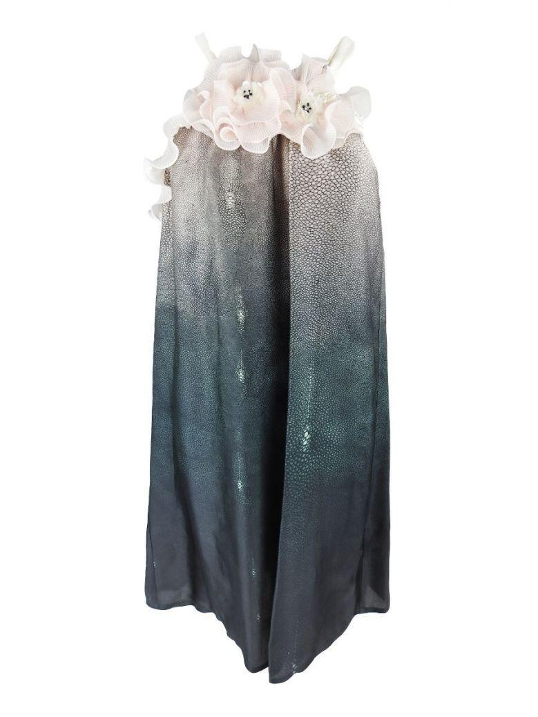 Camelot Pink Multi Halter Neck Dress