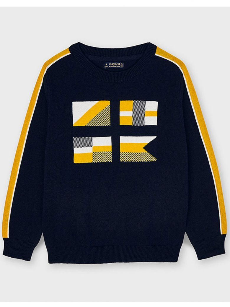 Mayoral Navy & Yellow Flag Detail Jumper