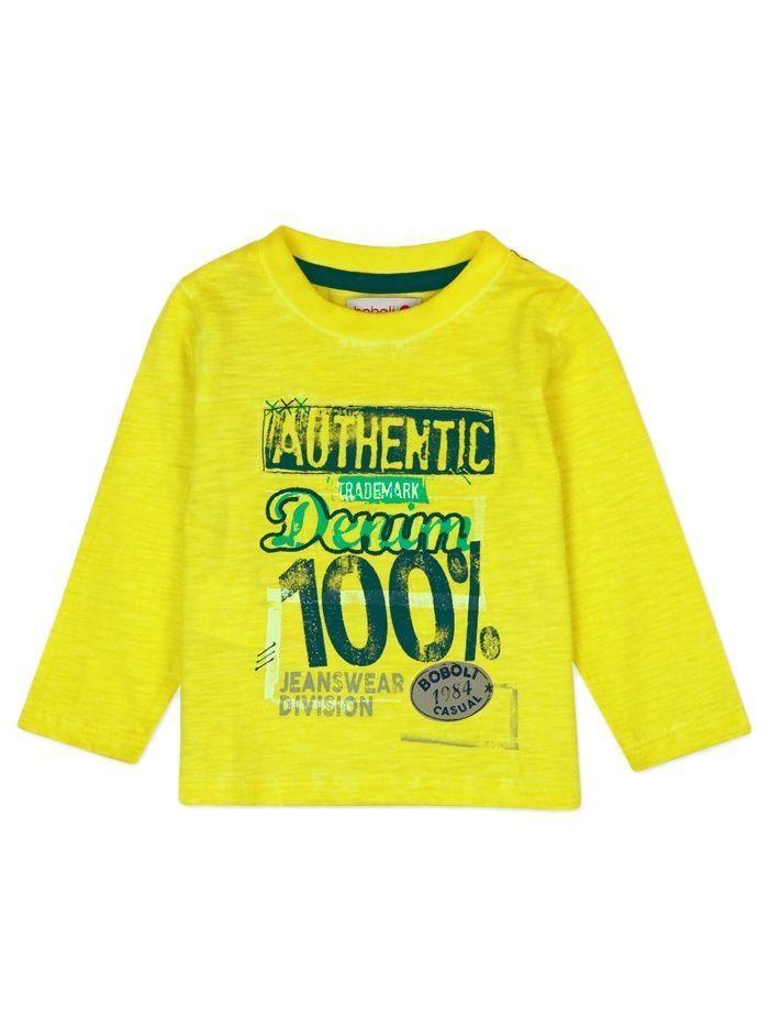 Boboli Bright Yellow Slub Knit Top