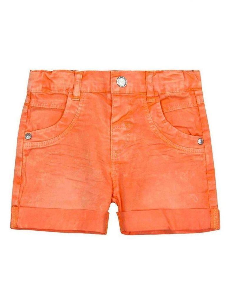 Boboli Orange Stretch Denim Bermuda Shorts