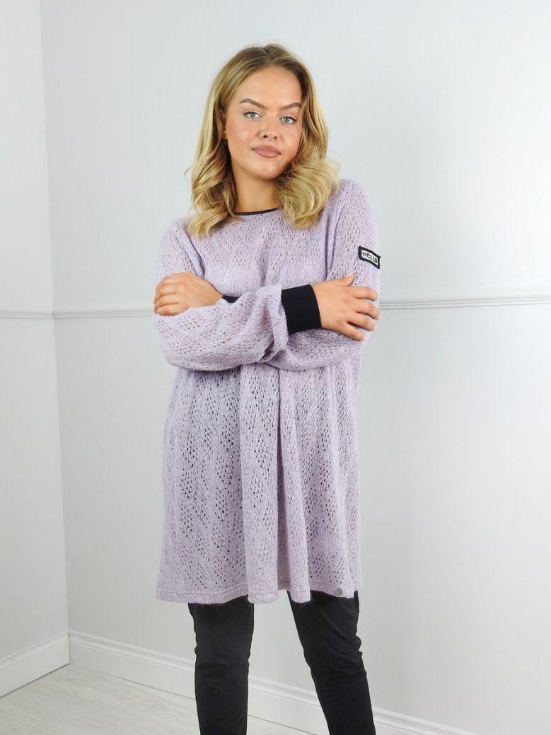 Que Purple Loose Knit Jumper