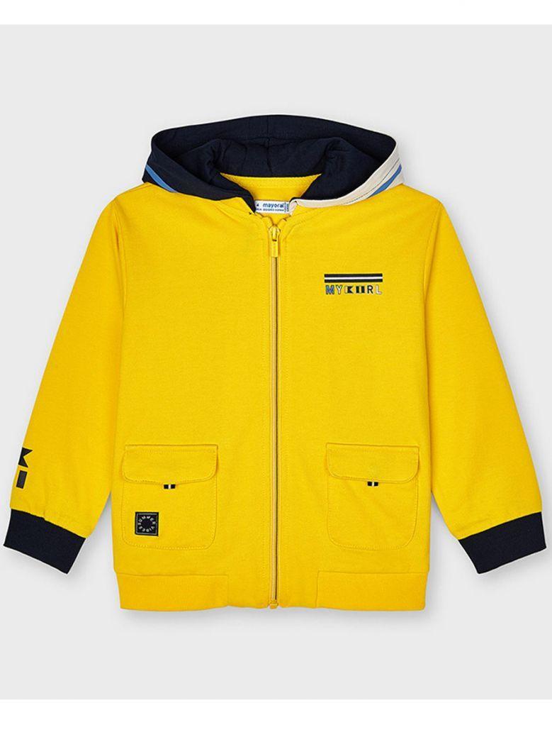 Mayoral Yellow Full Zip Hoodie