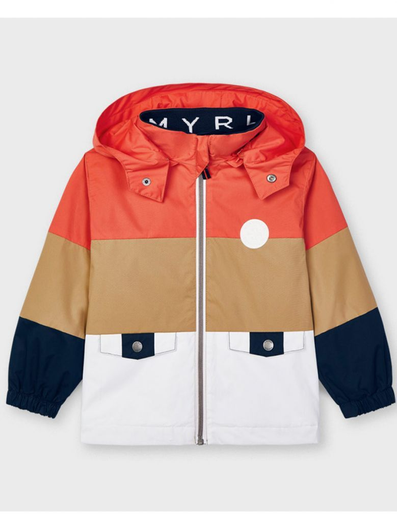 Mayoral Red Taupe & White Windbreaker