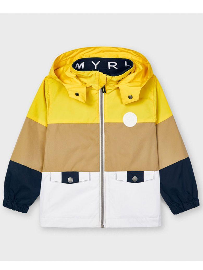 Mayoral Yellow Taupe & White Windbreaker
