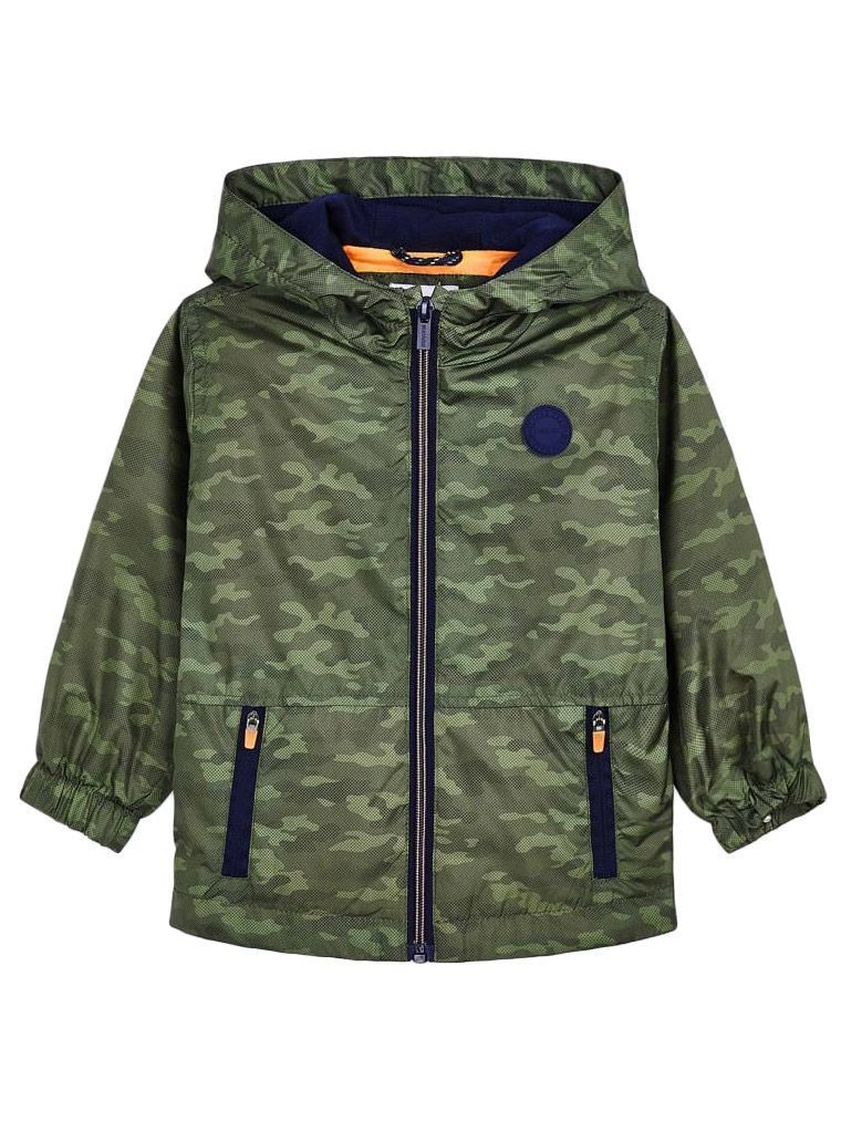 Mayoral Green Camouflage Windbreaker Jacket