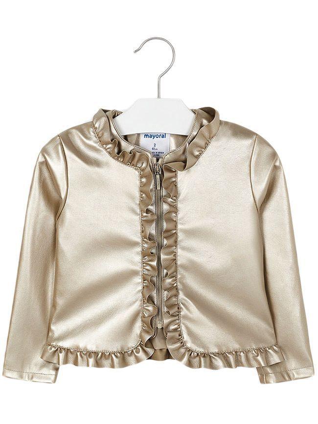 Mayoral Gold Ruffle Jacket