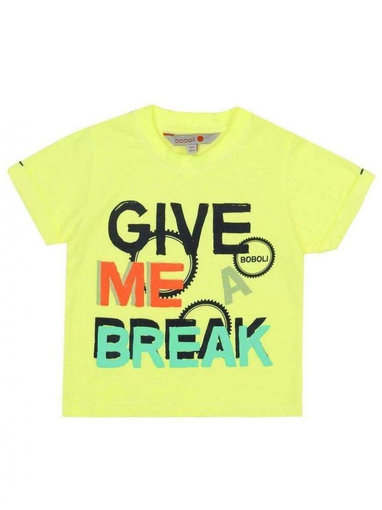 Boboli Lime Logo T-Shirt