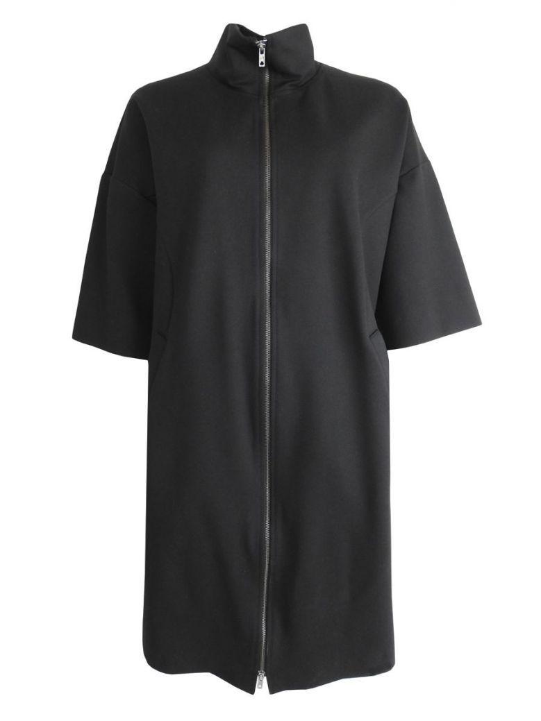 Que Black Zip-Up Funnel Neck Jacket