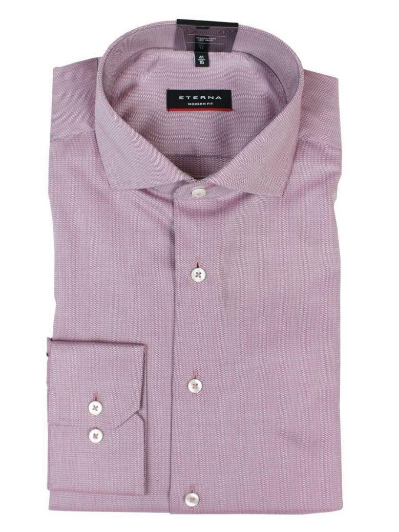 Eterna Purple Modern Fit Long Sleeve Shirt
