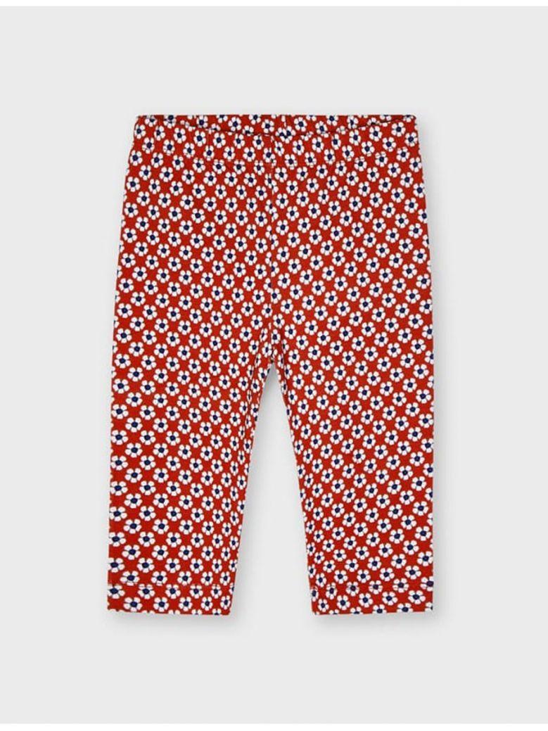 Mayoral Red Daisy Print Leggings
