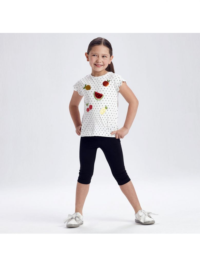 Mayoral Black Dotty T-Shirt and Leggings