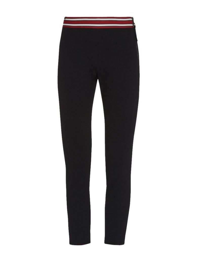 PENNYBLACK Black Jersey Trousers With Lined Waistband