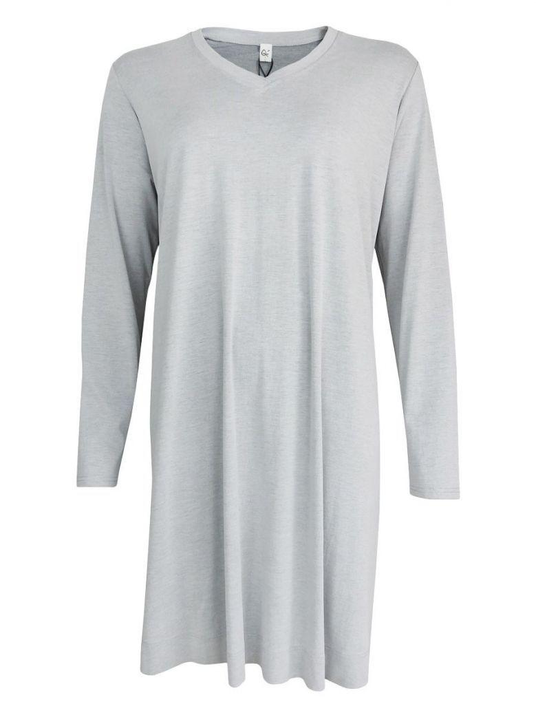 Que Light Grey V-Neck Tunic