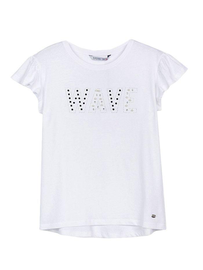 Tiffosi White Applique 'Wave' T-Shirt