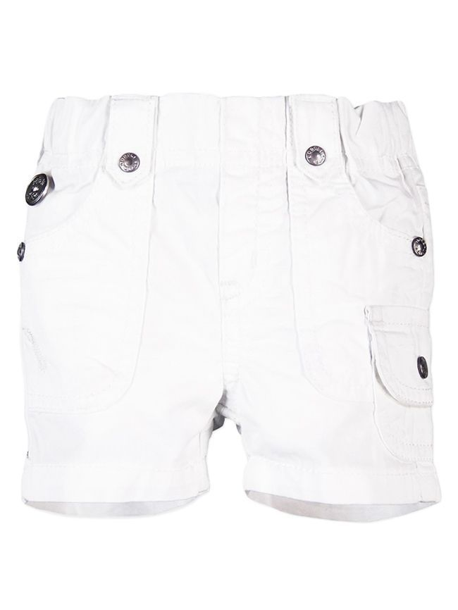 Boboli White Poplin Bermuda Shorts