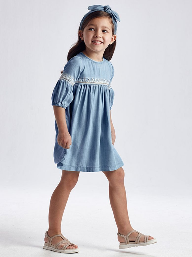 Mayoral ECOFRIENDS Embroidered Tencel Dress