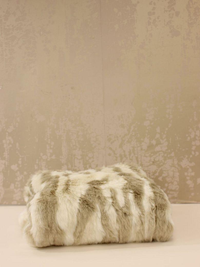 Cream & Beige Riga Fluffy Throw