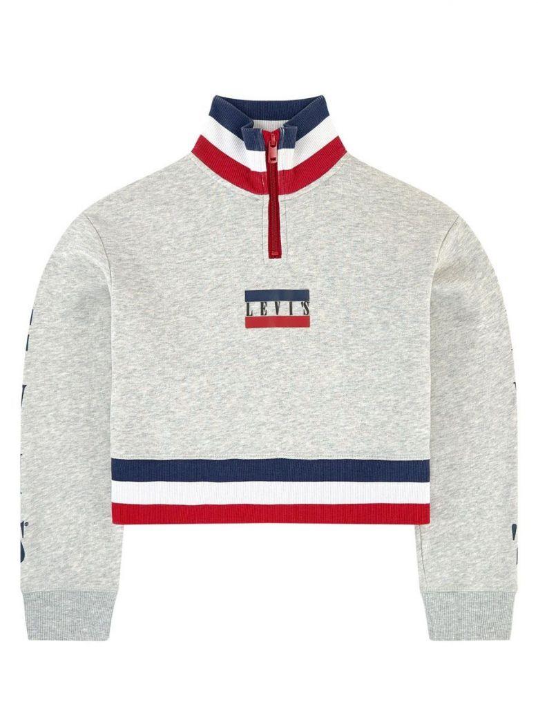 Levis Grey Quarter Zip Sweatshirt