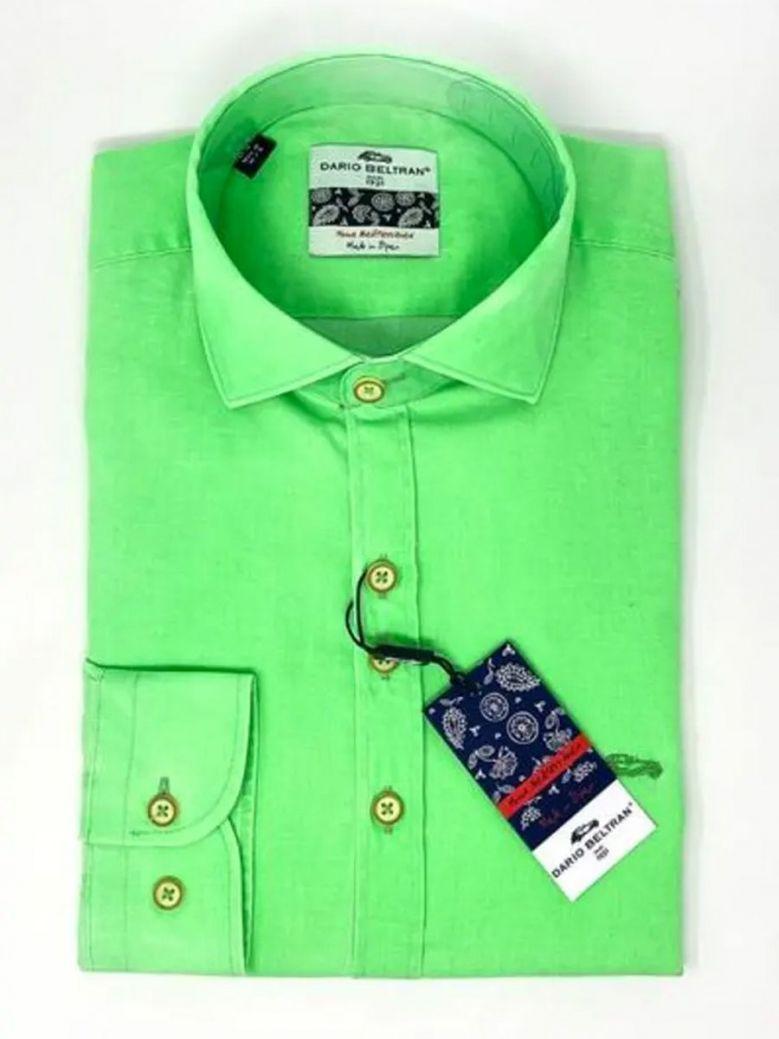 Dario Beltran Long Sleeve Shirt Fluorescent Green