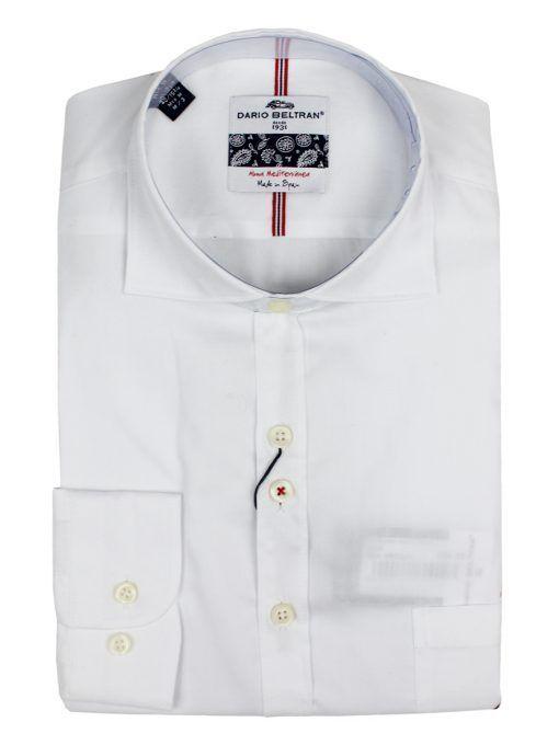 Dario Beltran White Epilogo Regular Fit Shirt
