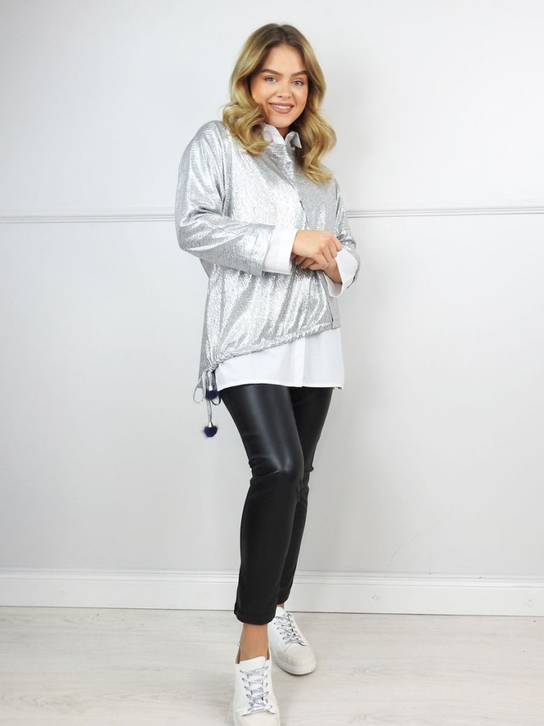 Hukka Silver Two In One Layered Shirt and Top