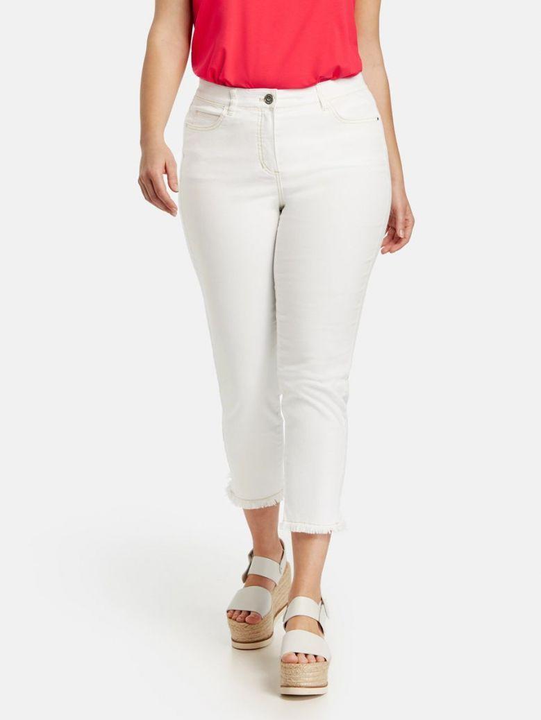 Samoon White Betty Slim Fit Jeans
