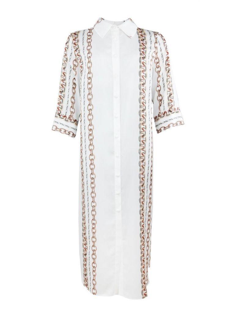 Camelot Cream Long Shirt Dress