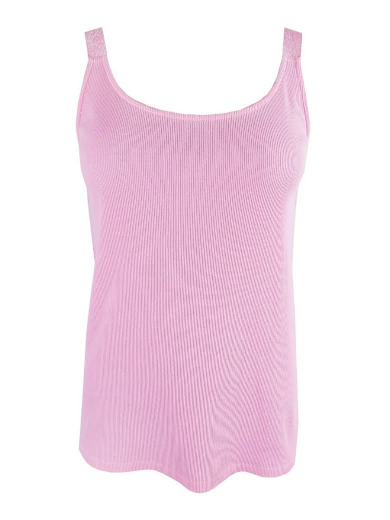 Just White Pink Sleeveless Vest Top