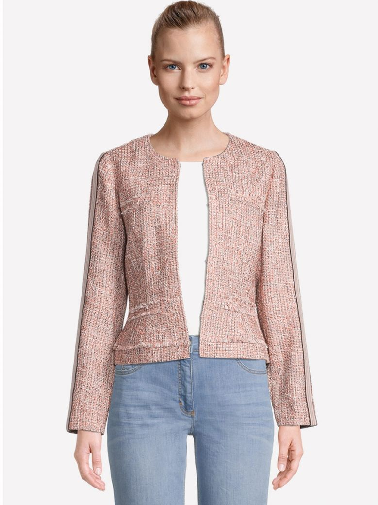 Betty Barclay Pink Summer Jacket with Fringes