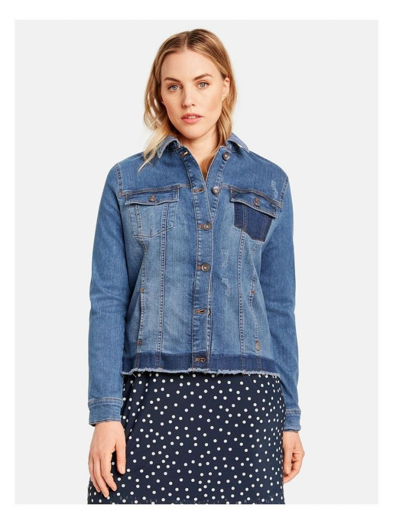 Samoon Blue Denim Jacket