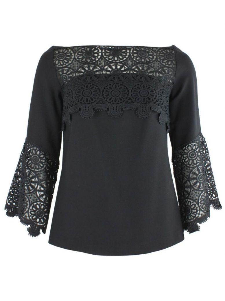 Arggido Black Lace Detail Top