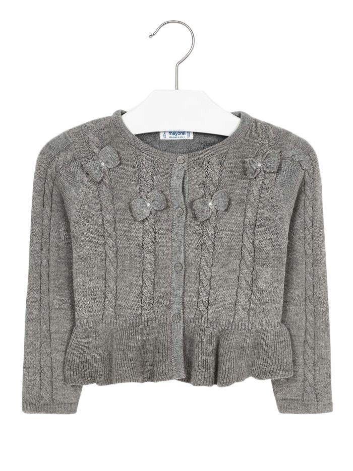 Mayoral Grey Knitted Cardigan