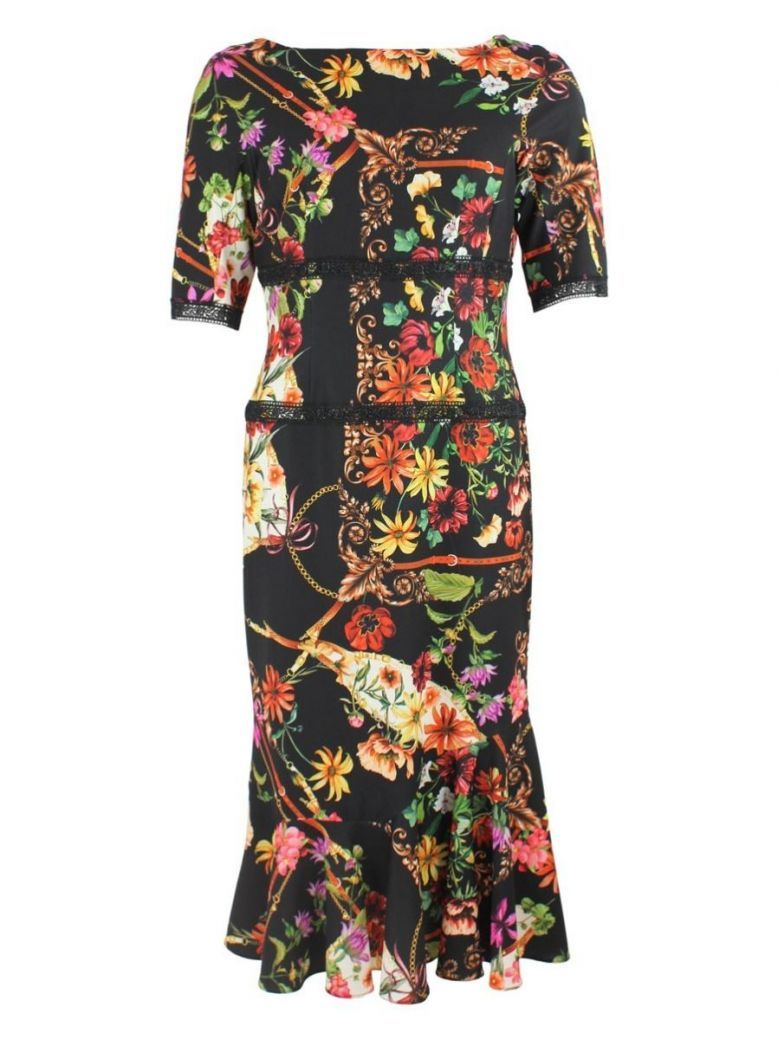 Arggido Black Multi Floral Dress