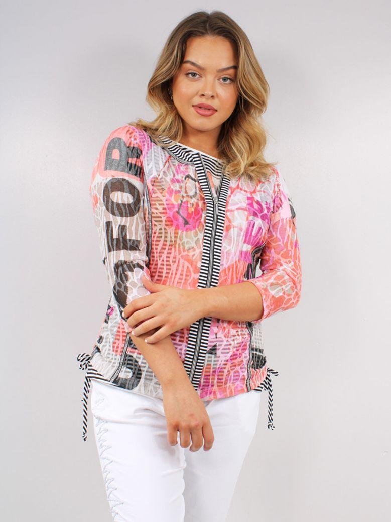 Just White Multi Zip Up Shirt Jacket