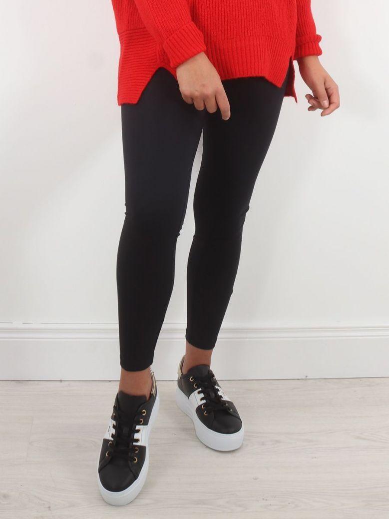 Tuzzi Printed Logo Leggings Black