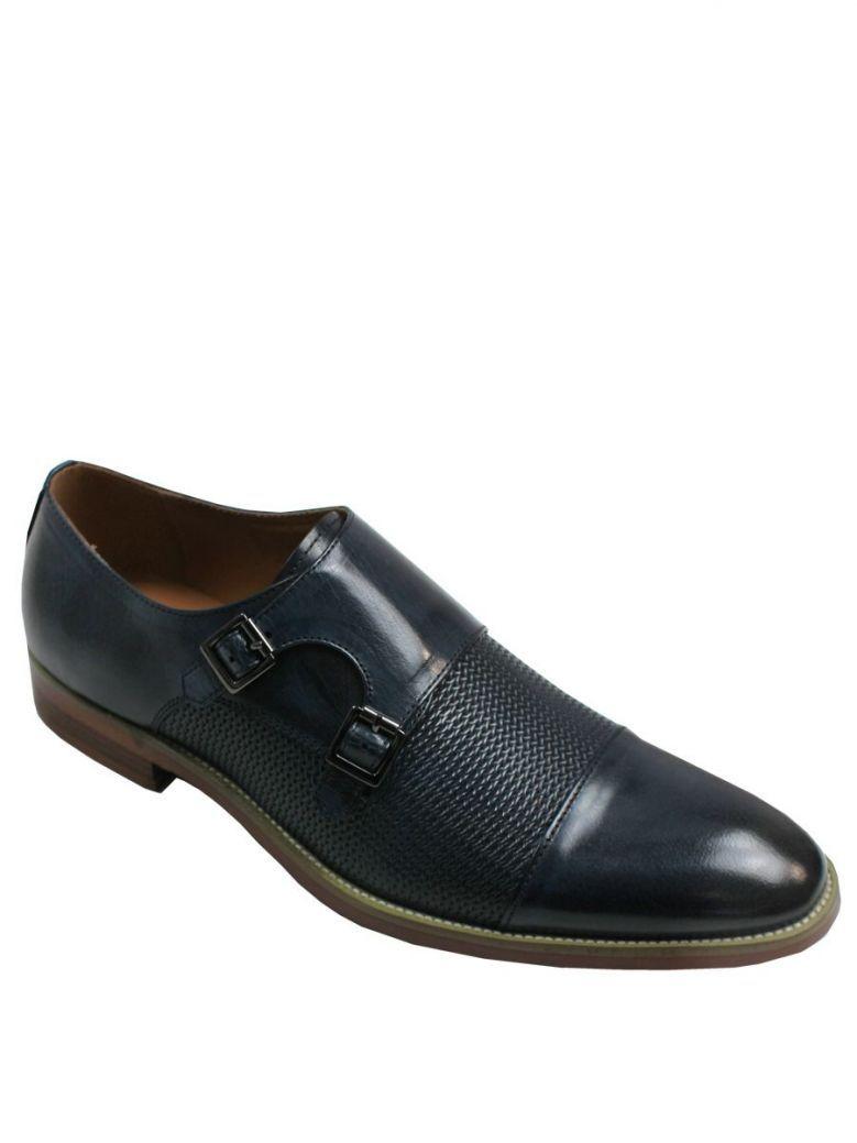 Dice Navy Alby Slip On Shoe