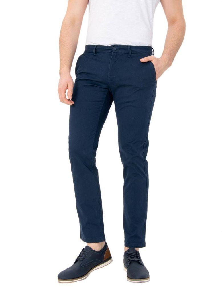 Izod Navy Blazer Slim Stretch Chino Trousers