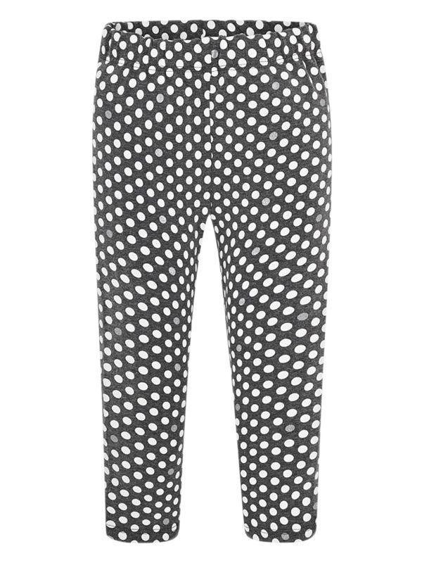 Mayoral Grey & White Polka Dot Patterned Leggings