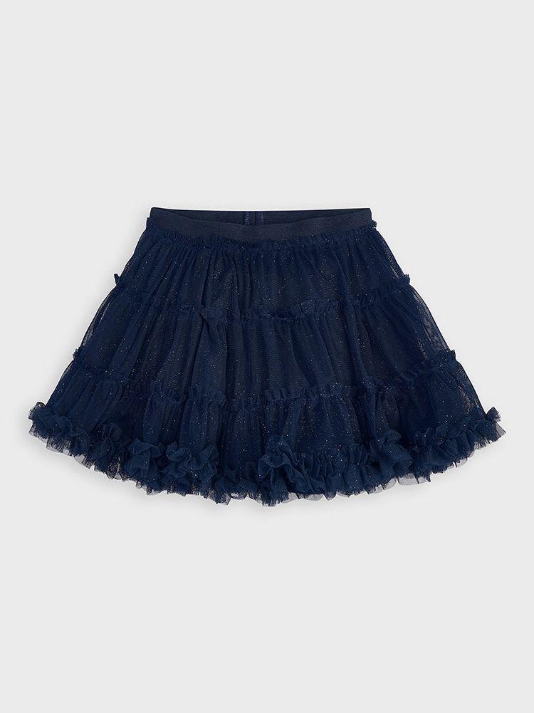 Mayoral Navy Glitter Tulle Skirt