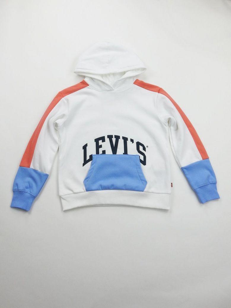 Levis White Logo Printed Hoody