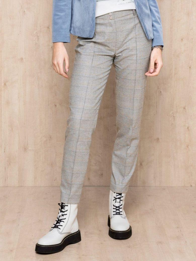 Bianca Grey Siena Check Detail Trousers